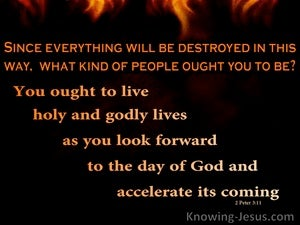 The Great Conflagration (devotional) - 2 Peter 3:11
