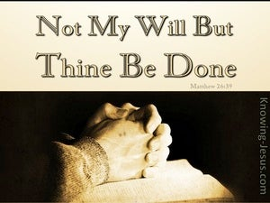 Thy Will Be Done (devotional) Matthew 26-39