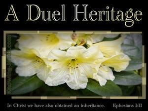 Ephesians 1:11 In Christ We Have Gained An Eternal Inheritance (beige)