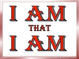 Exodus 3:14 I AM that I AM (devotional)11:13 (red)