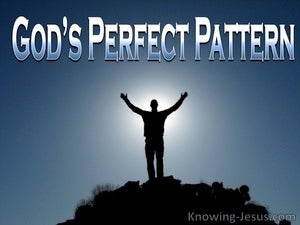 God's Perfect Pattern (devotional) Psalm 8-4