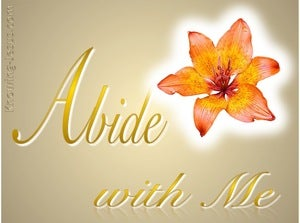 John 15:4 Abide With Me (devotional)10:07 (gold)