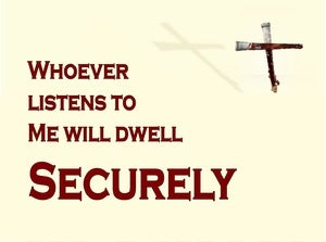 Proverbs 1:33 A Secure Position In Christ (devotional)08:01 (maroon)