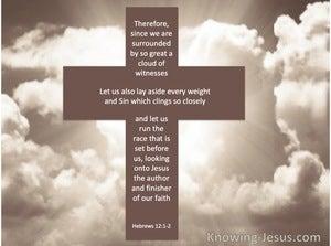 Hebrews 12:1God's Witnesses (devotional)10:26 (beige)