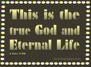 1 John 5:20 This Is The True God (gold)
