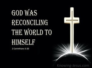 2 Corinthians 5:20 God Was Reconciling the World To Himself (beige)