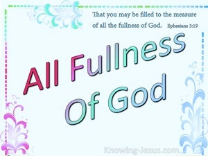 All The Fullness Of God (devotional) (aqua) - Ephesians 3:19