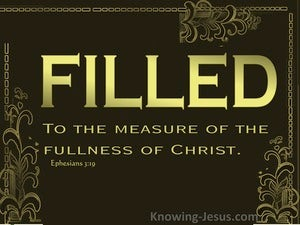 Ephesians 3:19 FIlled To The Measure Of The Fullness Of Christ (brown)