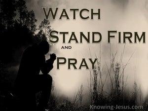 An All-Season Watch (devotional) (black) - 1 Corinthians 16:13