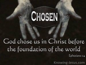 Chosen By God (devotional) (black) - Ephesians 1:4