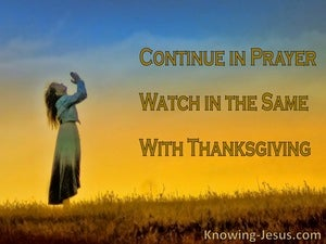 Continuing Thankful Prayer (devotional) (blue) - Colossians 4:2