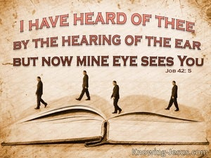 Job 42:5 Earthly Truth (devotional)08:31 (beige)