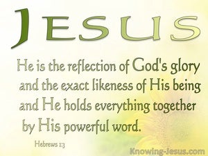 Encompassed in Christ (devotional) (sage) - Hebrews 1:3