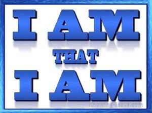 Exodus 3:14 I AM that I AM (blue)