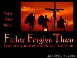 Father Forgive (devotional) (black) - Luke 23:34