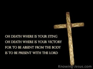 Fear Not Death (devotional) (black) - 1 Corinthians 15:55