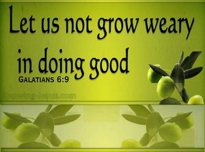 Galatians 6:9 Let Us Not Grow Weary Of Doing Good (black)
