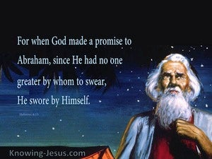 God's Firm Resolve (devotional) (navy) - Hebrews 6:13