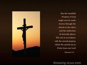 God's Purpose (devotional) - Ephesians 3:11