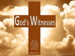 God's Witnesses (devotional) (brown) - Hebrews 12:1