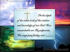 God's Divine Judgments (devotional) (blue) - Romans 11:33