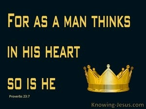 God's Lost Majesty (devotional) (gold) - Proverbs 23:7