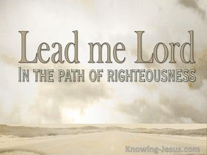 He Leads Me (devotional)  (beige) - Psalm 23-3