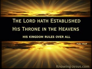 He Rules Over All (devotional) (brown) - Psalm 103:19