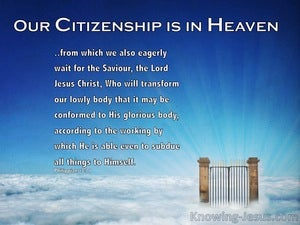 Heaven's March (devotional) (blue) - Philippians 3:21