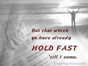 Holding Fast (devotional) (red) - Revelation 2:25