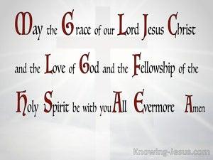 2 Corinthians 13:14 Grace Love And Fellowship (gray)