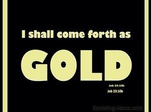 Job 23:10 I Shall Come Forth As Gold (yellow)
