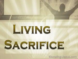 Living Sacrifice (devotional) (brown) - Romans 12:1