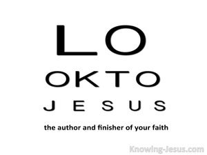 Look To Jesus (devotional) (white) - Hebrews 12:1