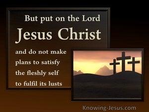Lord Jesus Christ (devotional) (gold) - Romans 13:14