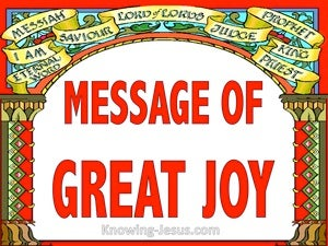 Luke 2:10 Message of Great Joy (devotional)08:27 (red)