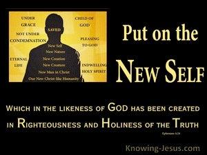 New Set of Clothes (devotional) (black) - Ephesians 4:24