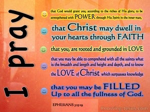 Paul's Perfect Prayer (devotional) (orange) - Ephesians 3:15