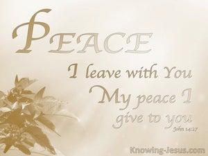 His Perfect Peace (devotional) (beige) - Isaiah 26:3