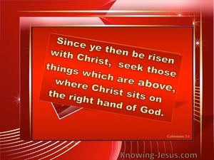 Position and Condition (devotional) (red) - Colossians 3:1