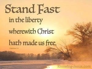 Prepared To Meet God (devotional) (brown) - Galatians 5:1