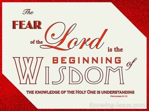 Proverbs 9:10 The Fear Of The Lord Is Wisdom (beige)