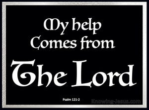 Psalm 121:2 My help comes from the LORD (white)