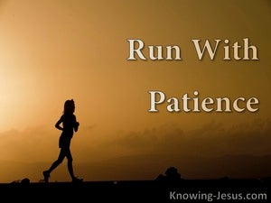 Run With Patience (devotional) (brown) - Hebrews 12:1