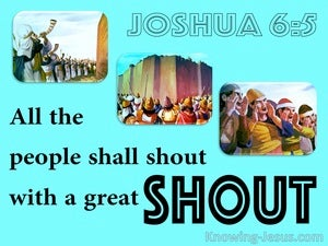 Shout Of Faith (devotional) (blue) - Joshua 6:5