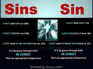 Sins and Sin (devotional)11-25 (black) Romans 6-10