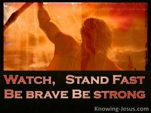 Stand Fast (devotional)  (orange) - 1 Corinthians 16:13