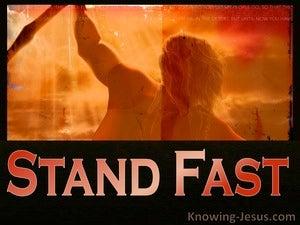 Stand Fast (devotional)  (black) - 1 Corinthians 16:13