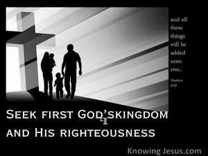 Matthew 6:33 Seek First The Kingdom Of God (black)