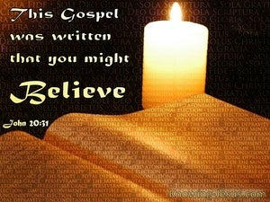 The Glorious Gospel Devotional (brown) - John 20:31